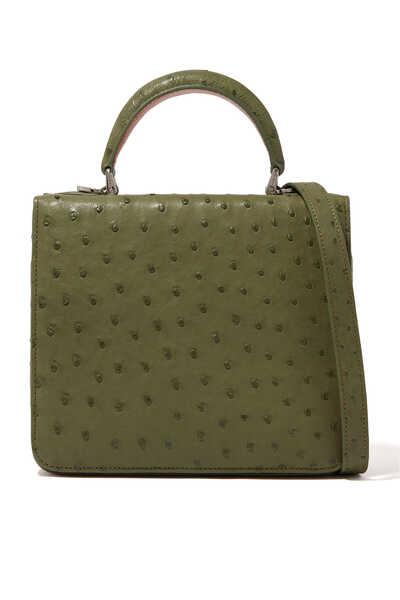 Square F Top Handle Bag