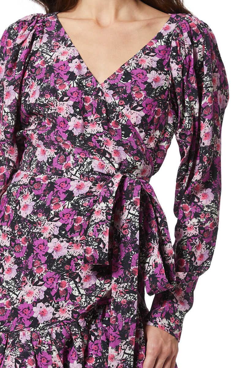 Floral-Print Nancy Wrap Dress image number 4