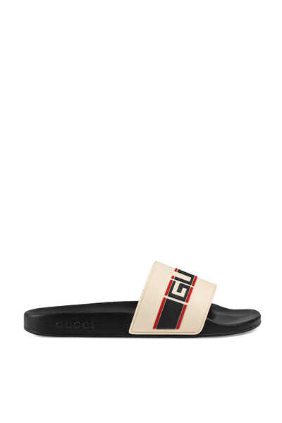 Gucci Stripe Slide Sandals