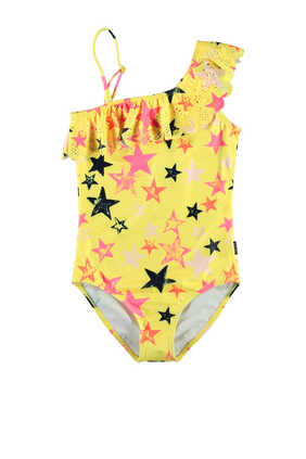 Star Print One Piece Swimsuit