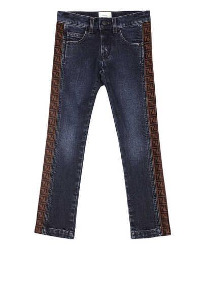 Blue Logo Jeans