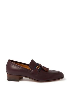 Interlocking G Leather Loafers