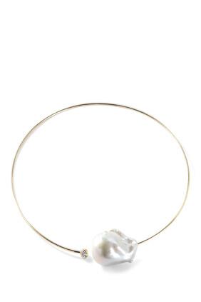 Baroque Pearl and Diamond Collar
