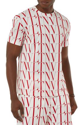 VLTN TIMES Print Cotton T-shirt