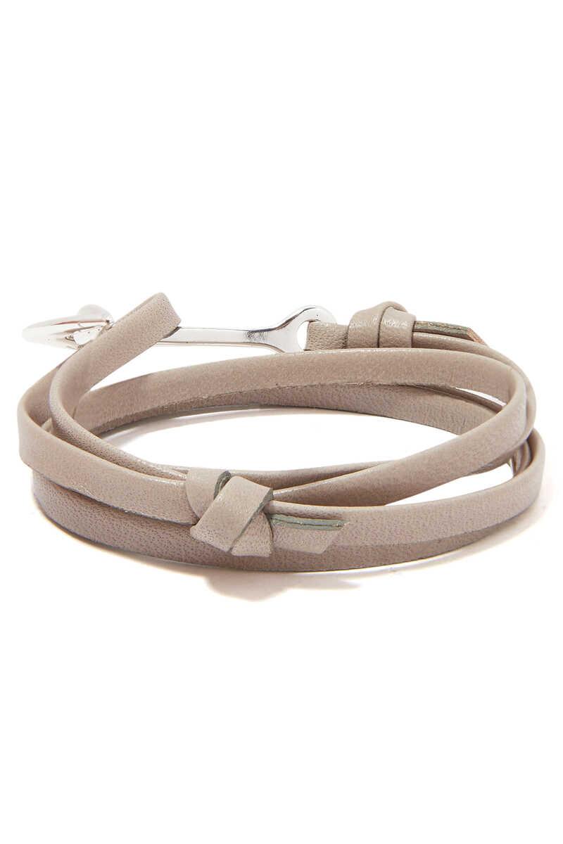 Leather Anchor Bracelet image number 2