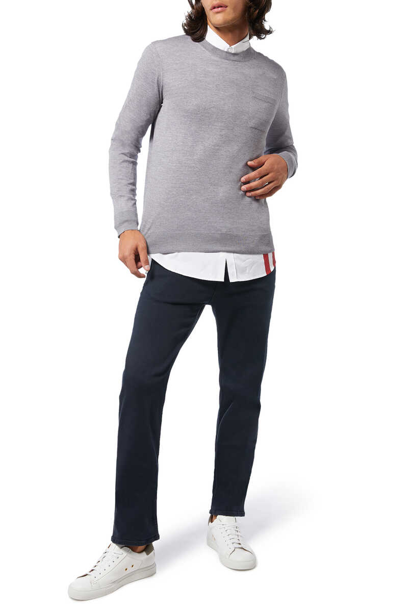 Solid Knit Pullover image number 2