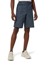 Eco washed GG denim shorts