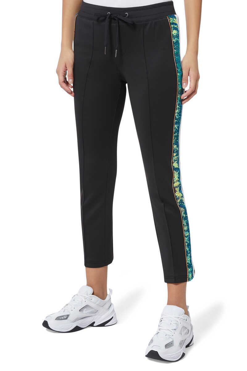 H19 Sequin Stripe Track Pants image thumbnail number 1