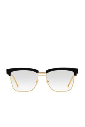 Square Acetate And Metal Glasses