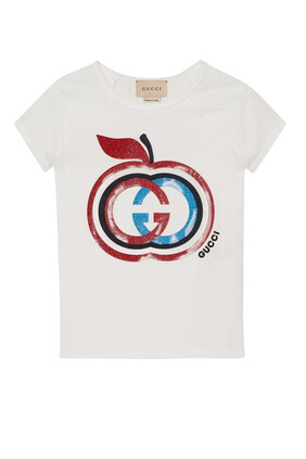 Interlocking G Apple Print T-Shirt