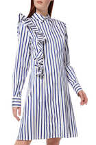 Abito Striped Ruffle Dress