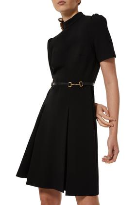 Viscose Horsebit Dress