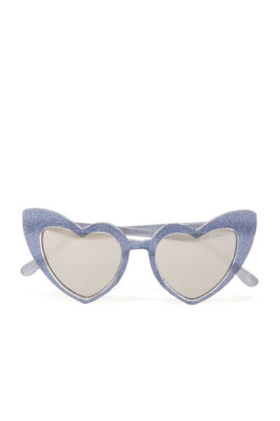 Sparkly Heart-Frame Sunglasses