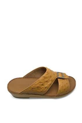 Ostrich Leather Sandals
