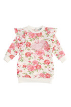 Floral Print Sweatshirt Dress