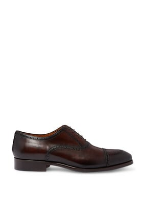 Brogue Derby Leather Shoes