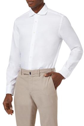 Slim Fit French Collar Shirt
