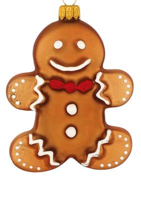 Glass Gingerbread Ornament