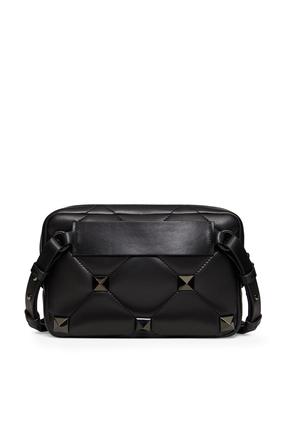 Roman Stud Nappa Crossbody Bag