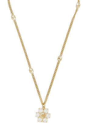 Pearl Double G Necklace