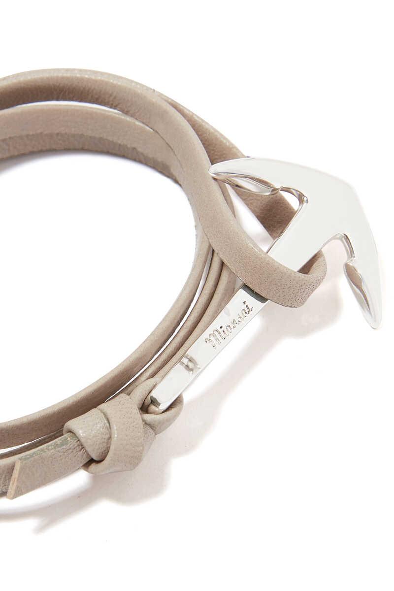 Leather Anchor Bracelet image number 3