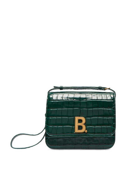 Small B. Crocodile-Effect Leather Bag