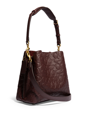 Signature Leather Willow Bucket Bag