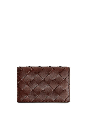 Intrecciato Leather Card Case