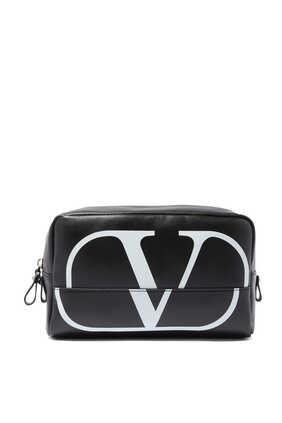 Valentino Garavani Logo Print Wash Bag