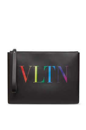 Valentino Garavani VLTN Leather Pouch