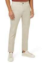 Slim-Fit Cotton Pants
