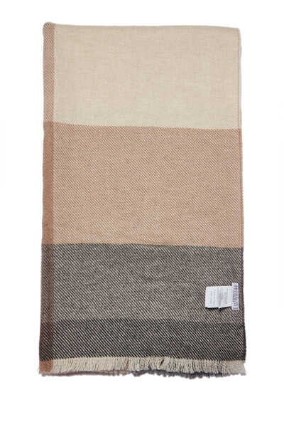 Scarf In Shades Of Grey And Beige