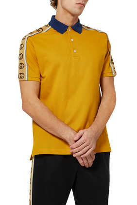 Interlocking G Stripe  Polo Shirt