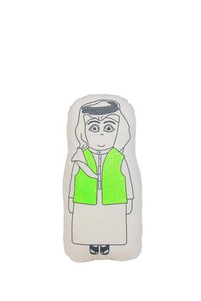 Kuwait Bisht Boy Plush Cushion