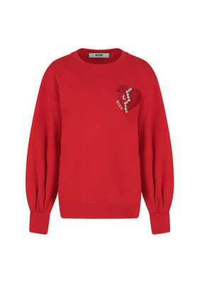 Embellished Heart Sweatshirt
