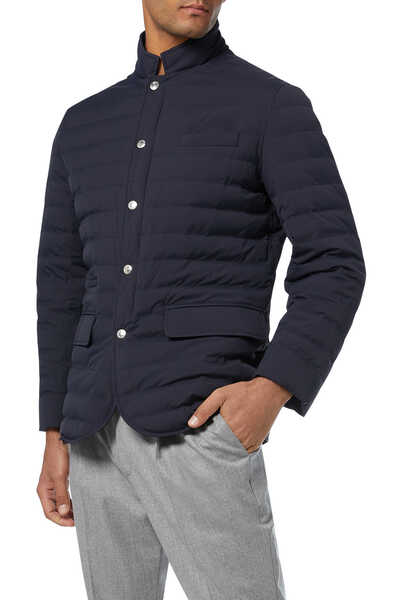 Quilted Nylon Down Short Coat