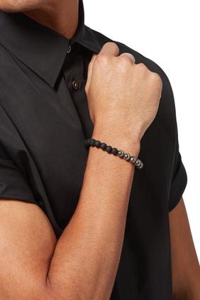 Wood And Lava Bead Bracelet