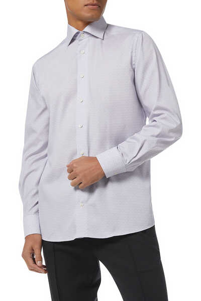 Art Deco Poplin Slim Fit Shirt