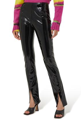 Vinyl Slim Trousers