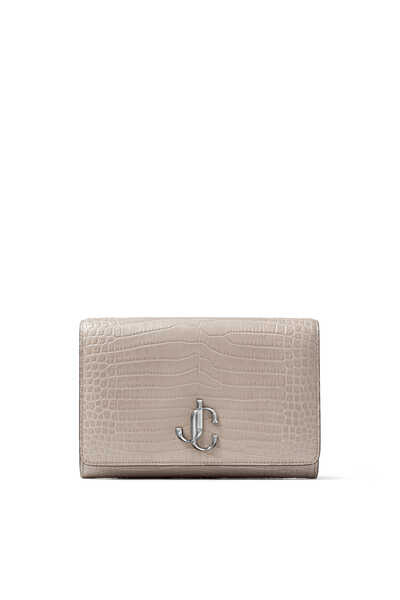 Varenne Croc-Embossed Leather Clutch