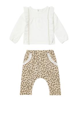 Leopard Pants & Top Set