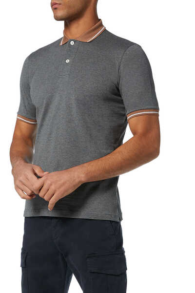 Cotton Jersey Polo T-Shirt
