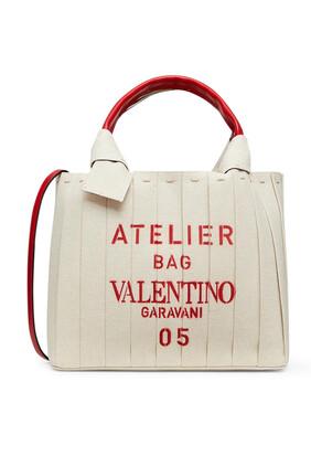 Small Valentino Garavani Atelier Bag Canvas Tote