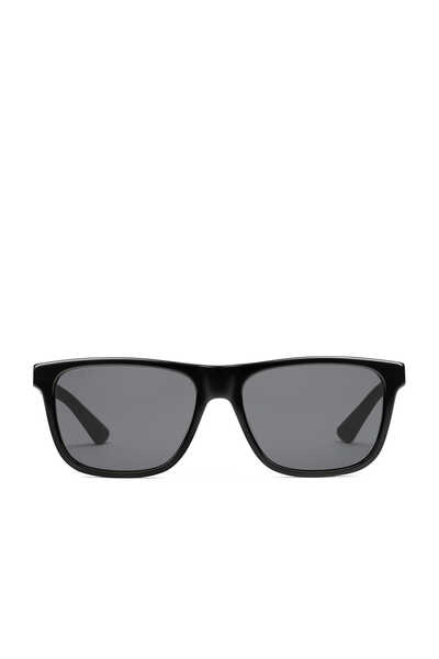 Rectangular Acetate and Metal Sunglasses