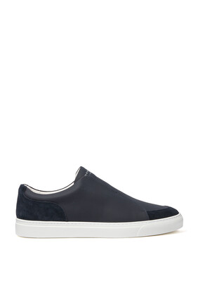 Jaunty Tech Leather Sneakers