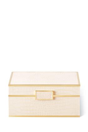 Classic Croc Leather Small Jewelry Box