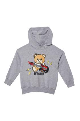 Teddy Bear Guitar Hoodie Sweatshirt