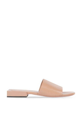 Box Sandals in Shiny Sheepskin