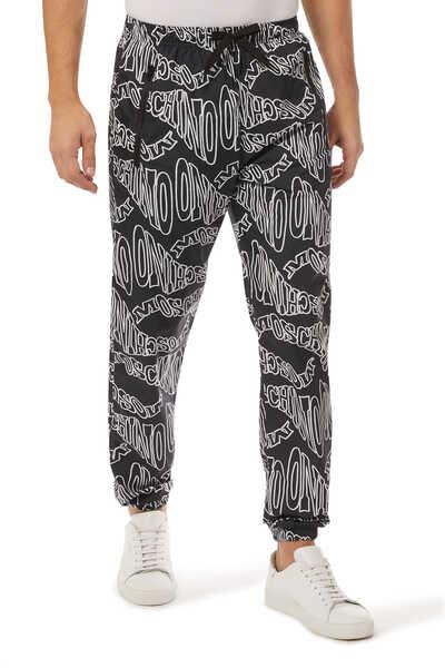 Warped Logo Nylon Jogger Pants