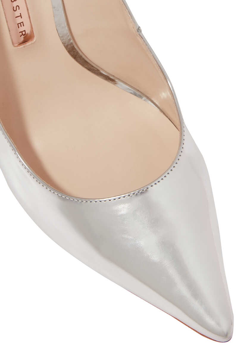 Silver Coco Crystal Pumps image number 4